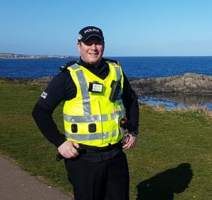 Special Constable Kevin Bruce on duty in Fraserburgh